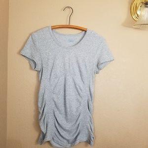 Athleta || gray workout fitness tee shirt
